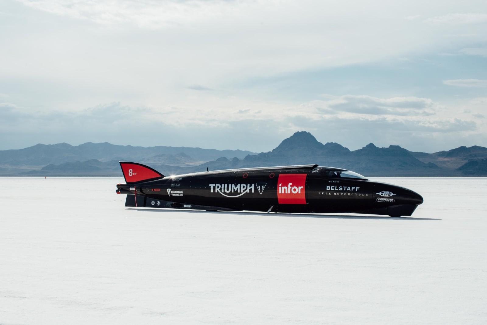 Triumph Infor Rocket Streamliner - Record Run