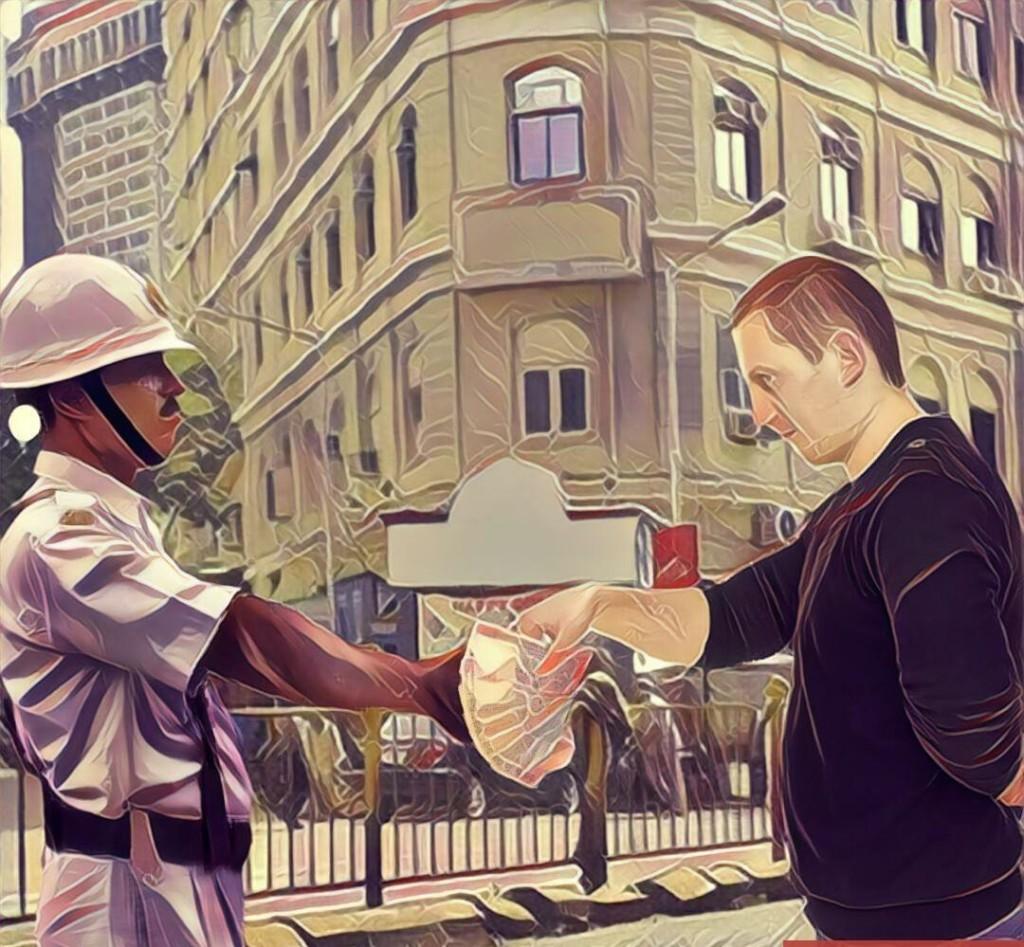 traffioc cop bribe