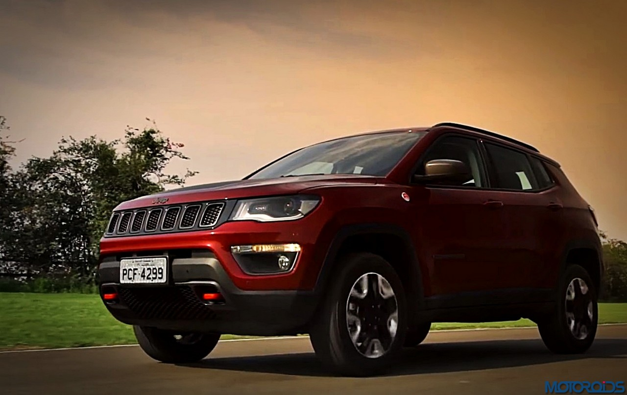 spied jeep compass spotted in india for the first time during a public road test motoroids. Black Bedroom Furniture Sets. Home Design Ideas