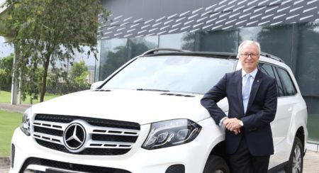 Mr. Roland Folger, MD & CEO, Mercedes-Benz India with the GLS 400 4MATIC