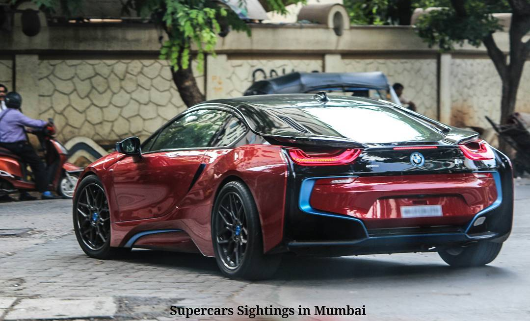Sachin Tendulkar Gets His Bmw I8 Custom Painted To Red Motoroids
