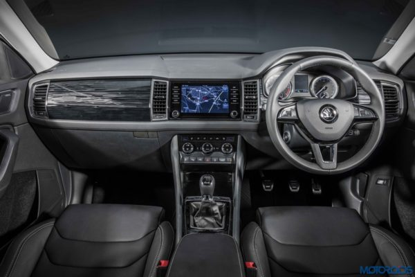 Skoda Kodiaq official dashboard