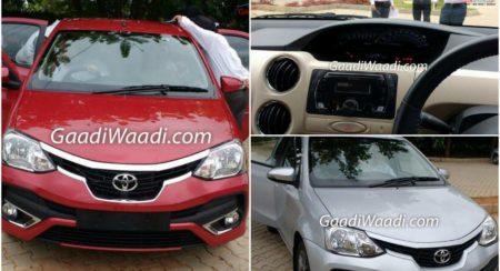 Toyota Etios Liva facelift leaked