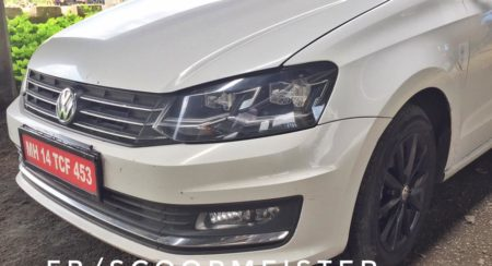 VW Vento Highline Plus with LED headlamps and new alloy wheels spied