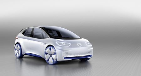 Vo9lkswagen I.D> electric car Paris Motor Show