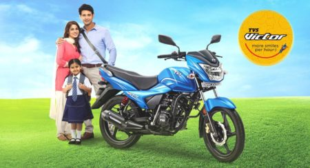1 Lakh units of the 2016 TVS Victor sold within 9 months of its launch
