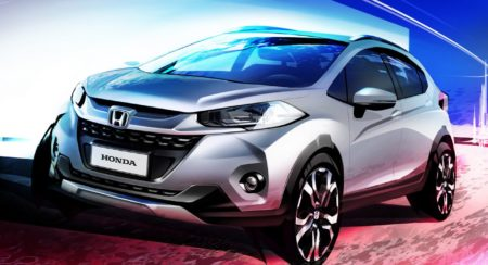 India bound Honda WR-V (Jazz based crossover) officially rendered