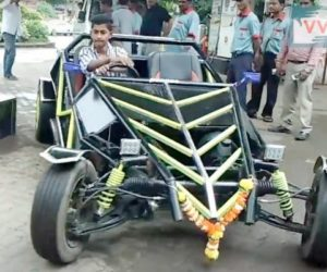 Kharghar Buggy 1 300x250 Mumbai: Kharghar teenager builds his own buggy watching Youtube videos
