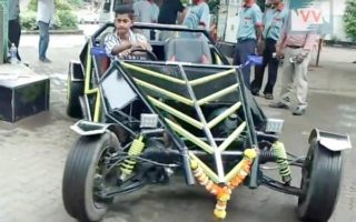 Kharghar Buggy 1 320x200 Mumbai: Kharghar teenager builds his own buggy watching Youtube videos
