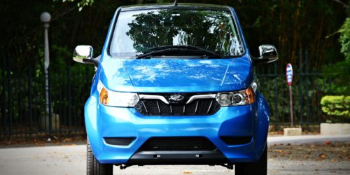 Mahindra Electric e2oPlus front blue 2 500x250 Mahindra e2oPlus Four Door Electric Car Launched, Priced INR 5.46 Lakh : Images Gallery and Details