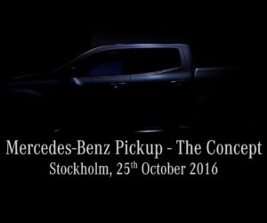 Mercedes Benz The COncept Pickup truck 2 300x250 VIDEO: Mercedes Benz Pickup The Concept teased; to be unveiled on October 25