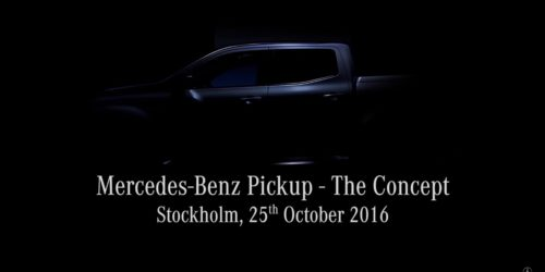 Mercedes Benz The COncept Pickup truck 2 500x250 VIDEO: Mercedes Benz Pickup The Concept teased; to be unveiled on October 25