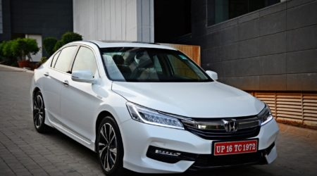 New 2016 Honda Accord Hybrid front white 2 450x250 Honda Car India to Organize Mega Service Camp From January 19 January 25