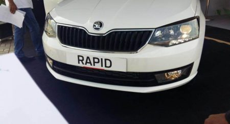 The Skoda Rapid facelift finally shows its new face; November 3 launch confirmed