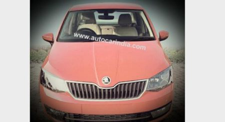 Skoda Rapid facelift caught undisguised; looks like the new Fabia that never came to India