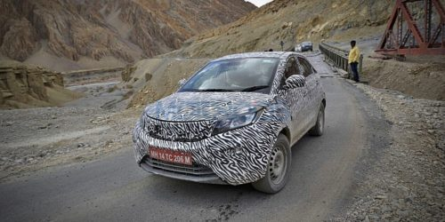 Tata Nexon test Spy Images 6 500x250 Tata Nexon Test Mule Spied in Clearest Images Yet, Reveals More Details