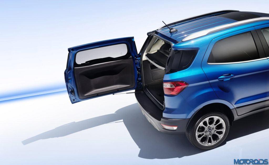 All Ford EcoSport models feature swing-gate-style tailgate.