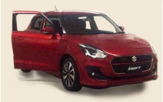 2017 Suzuki Swift 320x200 2017 (Maruti) Suzuki Swift leaked; gets Jaguar F Type like snout