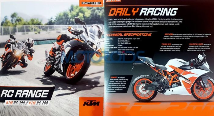 EXCLUSIVE: Upcoming New 2017 KTM RC200 and KTM RC390 Brochure Leaked