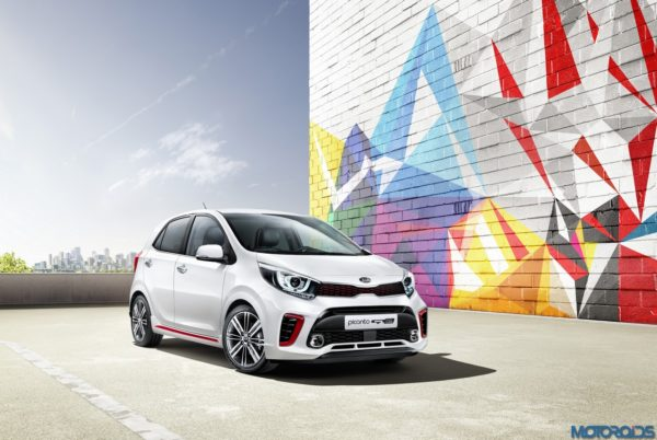 3rd generation Kia Picanto_GT Line (front quarter)