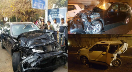 BMW Crash Delhi