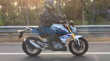 BMW G 310 R spied uncamouflaged 450x250 BMW G 310 R Spotted Testing in India Completely Undisguised Ahead of Launch This Year
