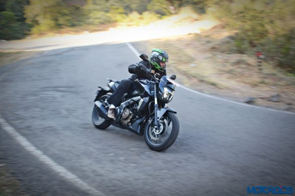 Bajaj Dominar 400 Action shots
