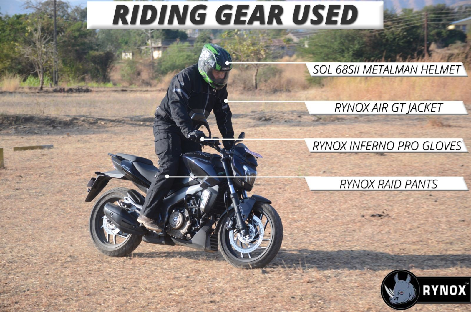 Bajaj-Dominar-400-Riding-Gear-