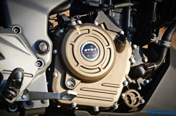 Bajaj-Dominar-400-Triple-Spark-DTSi-engine-600x398