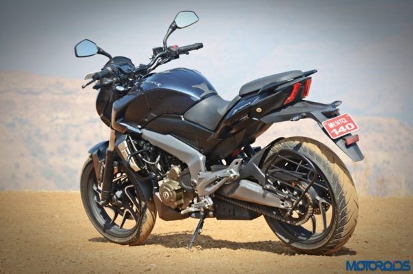 Bajaj Dominar 400 rear three quarter view (2)