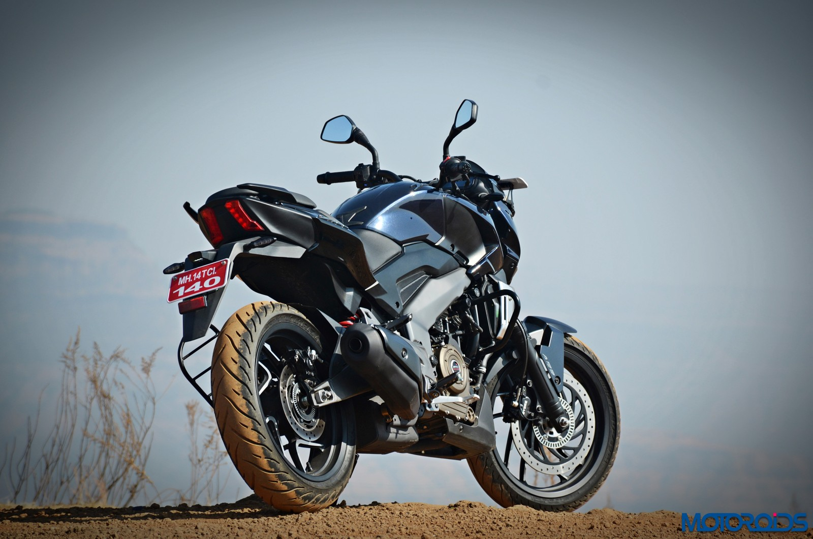 Bajaj-Dominar-400-three-quarter-view-rear