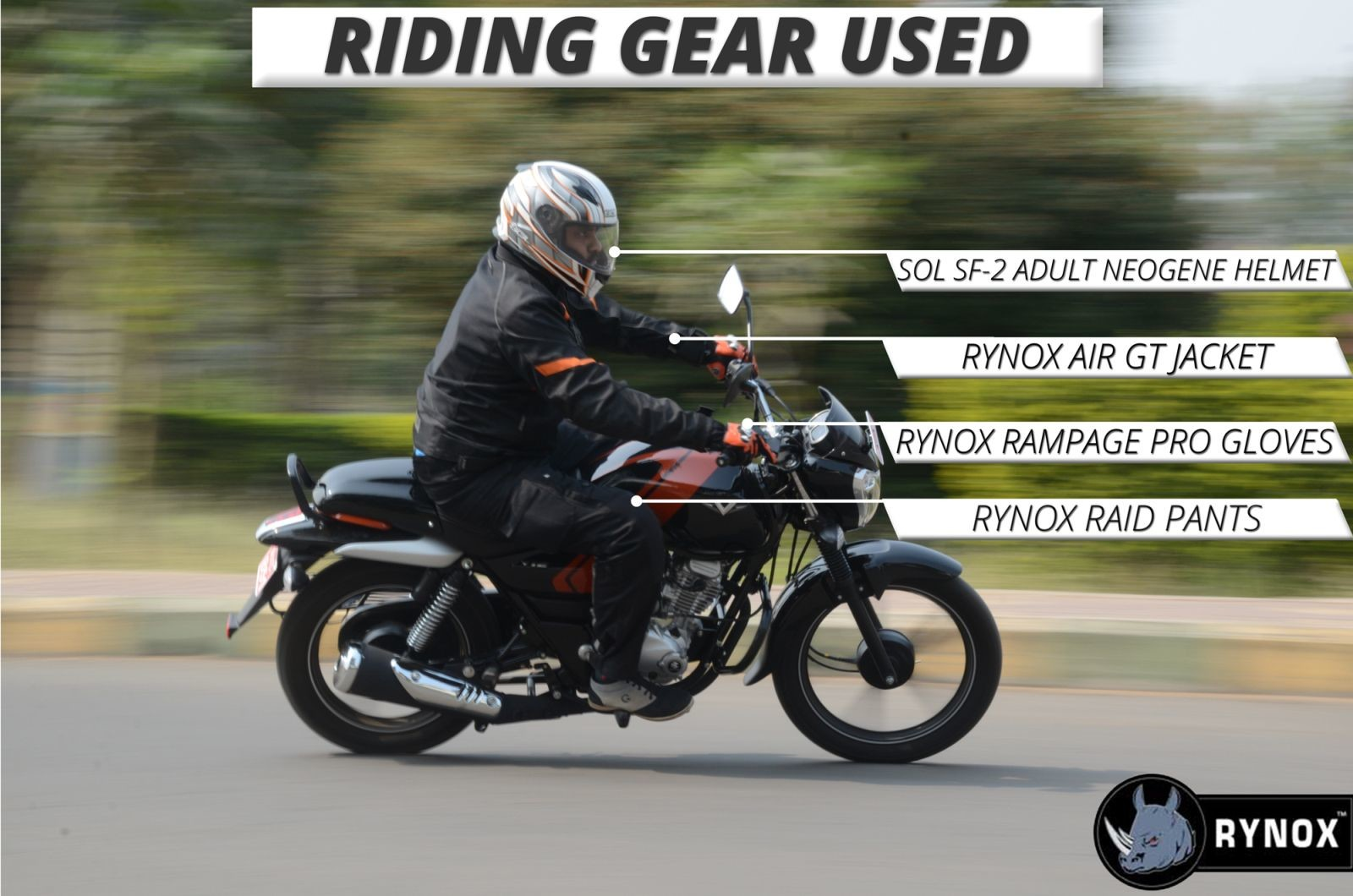 Bajaj-V12-Riding-Gear
