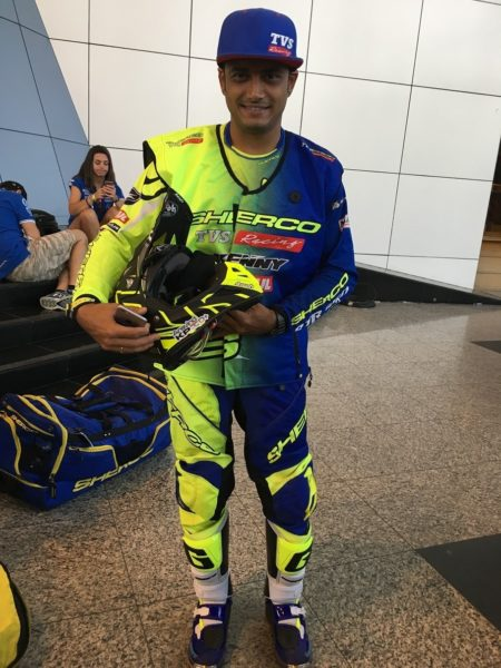 Dakar 2017 – TVS Sherco Rider – Aravind (1)