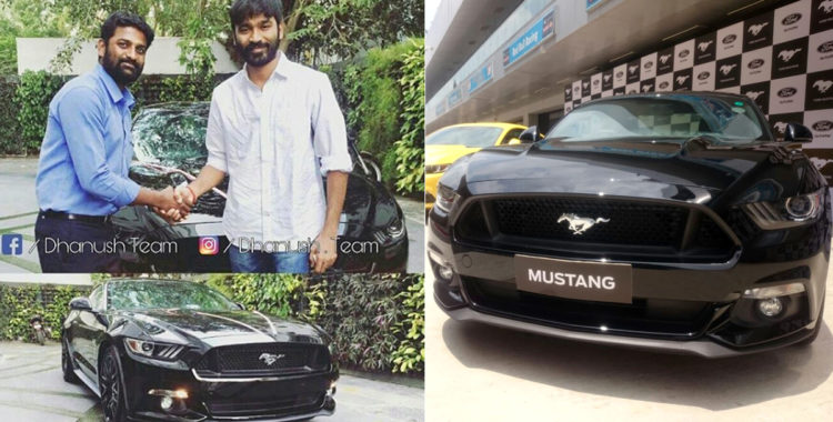 Dhanush Mustang GT 750x380 Tamil Superstar Dhanush Gets Himself A New Ford Mustang GT