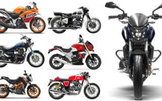 Dominar Collage 320x200 Bajaj Dominar 400 vs Honda CBR 250 vs Benelli TNT 25 vs Mahindra Mojo vs TVS BMW G310 vs KTM Duke 390/RC 390 vs all the Royal Enfield Classic/Thunderbird/Continental GT Specs Comparo