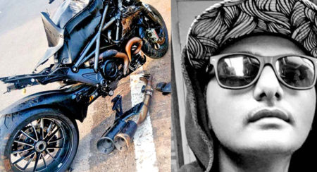 Ducati Diavel Crash In Mumbai