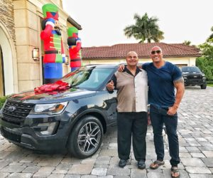 "Dwayne ""The Rock"" Johnson Gifts A Brand New Ford Explorer To His Dad On Christmas 300x250 Dwayne ""The Rock"" Johnson Gifts A Brand New Ford Explorer To His Dad On Christmas"