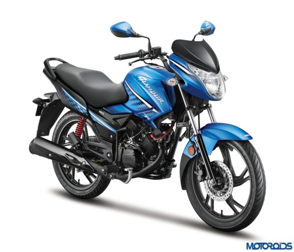 Hero MotoCorp - Glamour FI Techno Blue 3-4th Front