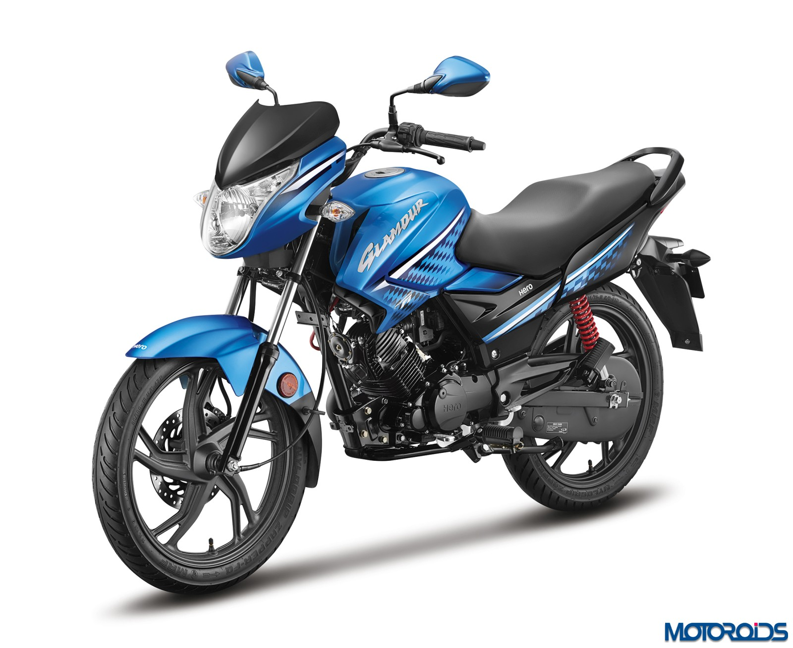 Hero-MotoCorp-Glamour-FI-Techno-Blue-3-4th-Front-Rev-Side