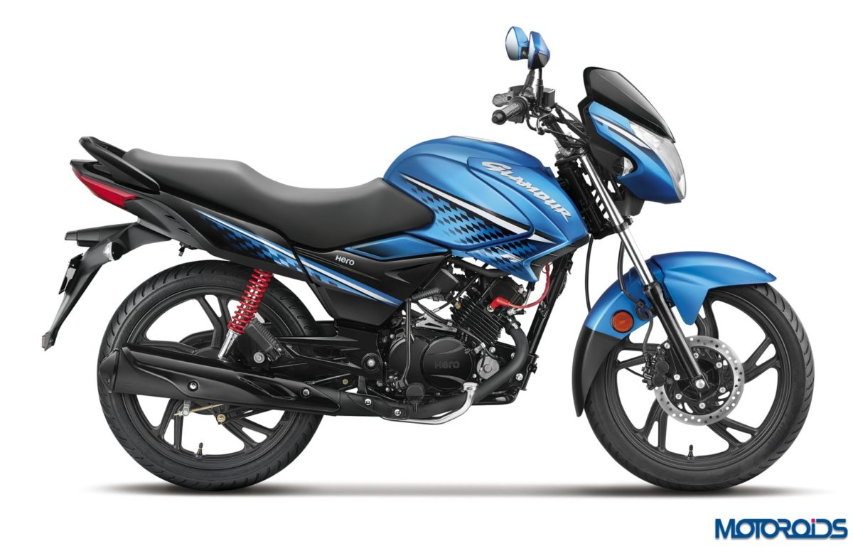 Hero MotoCorp – Glamour FI Techno Blue Side