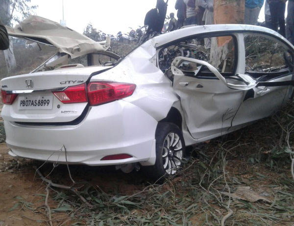 Honda City accident Ludhiana (1)