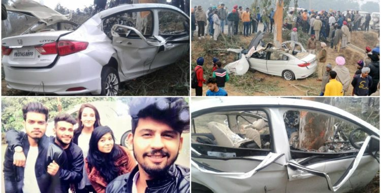 Honda City accident collage 750x380 Four Youngsters Killed After Allegedly Speeding Honda City Crashes at 150 kmph
