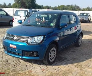 Maruti Suzuki Ignis spotted at dealership 5 300x250 Maruti Suzuki Ignis Brochure Revealed; Models Reach Local Dealerships Ahead of January 13 Launch