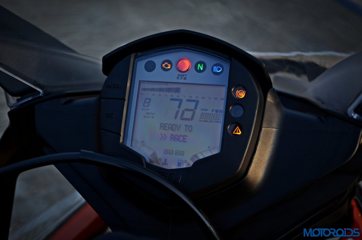 New 2017 KTM RC390 instruments console