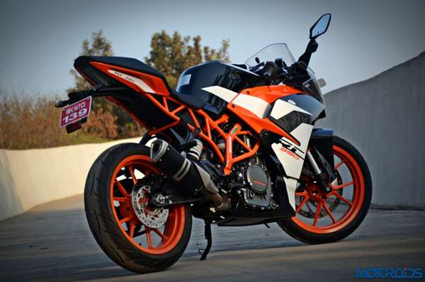 New 2017 KTM RC390 rear