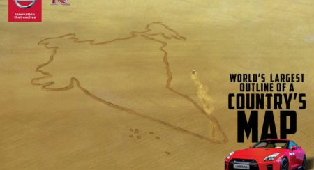 Nissan Salutes India; Creates World's Largest Ever Country Map With GT-R In Rajasthan (2)
