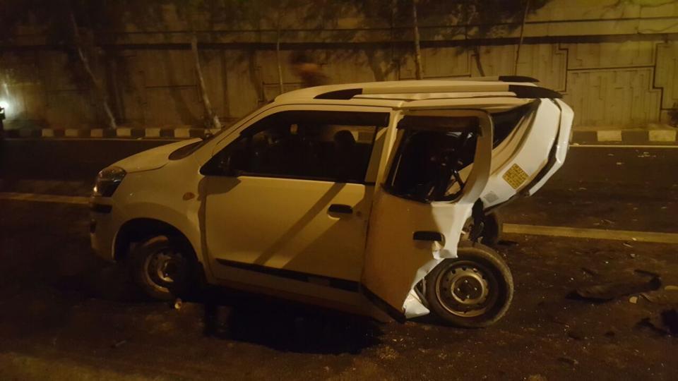 Speeding-BMW-X5-Crashes-Into-Maruti-Wagon-R-Killing-Its-Driver-1