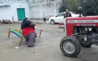 Strongman from Pakistan 320x200 VIDEO: Pakistani Strong Man embarrasses Horsepower with his 435 kilo Muscle Power
