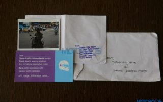 Traffic police thank you note 320x200 Thane Traffic Police Sends Thank You Notes to Motorists Who Obey Traffic Rules