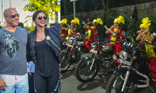 Vin Diesel Deepika Padukone 500x300 Vin Diesel Comes To India; Gets Welcomed By Gang Of Desi Lady Royal Enfield Riders